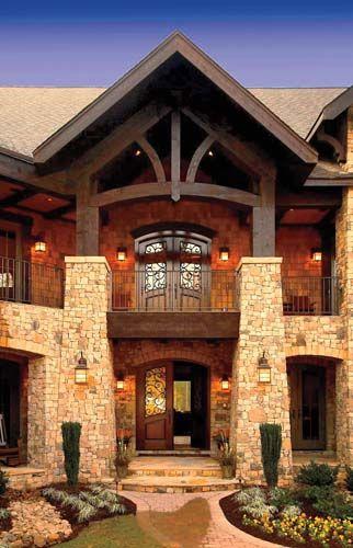 .Beautiful House, The Doors, Dreams Home Exterior, Outdoor Porches, Dreams House, Front Doors, Stones, Entrance, Design