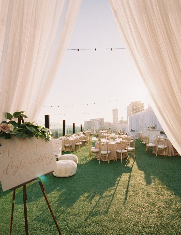 Hollywood Rooftop Wedding Fit for a CoolGirl