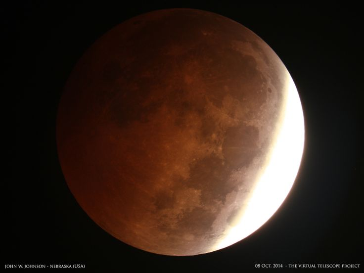 The moon passed through Earth's shadow on Oct. 8, 2014, marking a total lunar eclipse, the second of 2014, in a stunning blood moon. See photos of the amazing lunar eclipse in this Space.com gallery.