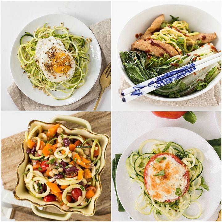 10 Spiralized Zucchini Recipes Under 300 Calories
