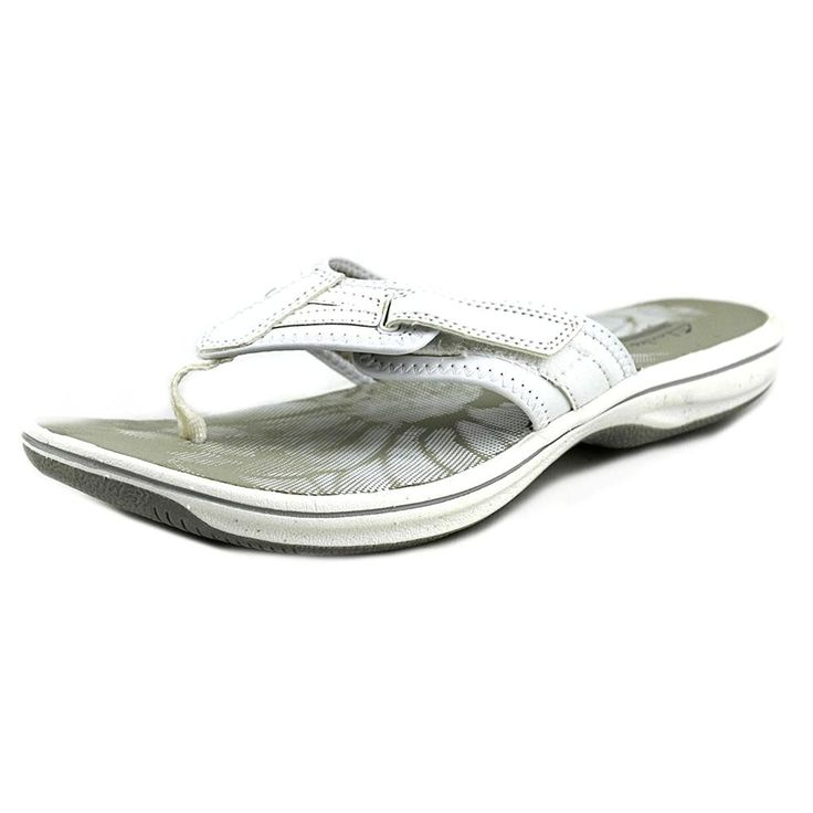 Clarks Brinkley Athol Women Open Toe Synthetic White Flip Flop Sandal ** You can find out more details at the link of the image.