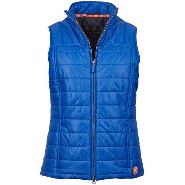 Women's Barbour Shillhope Quilted Gilet - Sea Blue (8.055 RUB) ❤ liked on Polyvore featuring outerwear, vests, barbour gilet, gilet vest, lightweight quilted vest, barbour and blue quilted vest