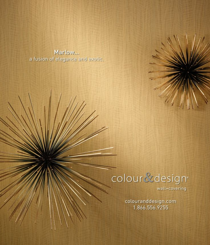 Creative Design And Photography For Colour Designs MarlowTM Wall Covering Advertisement In The October Interior MagazineSea
