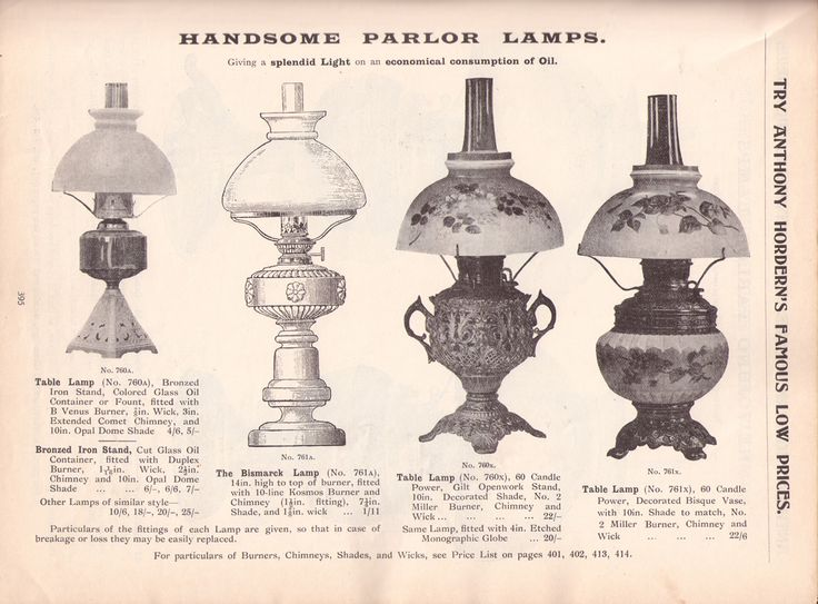 Parlor Lamps - Anthony Horderns 1907
