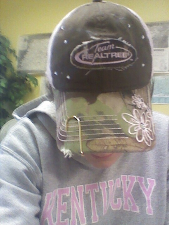 Team realtree camo hat with a fish hook hat pin for Fish hook on hat
