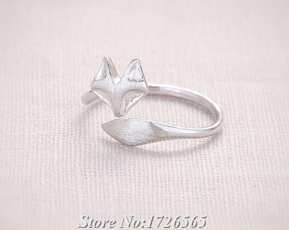 Nieuwe handgemaakte mix kleur hippie leuke vos wrap ring boho chic brass knuckle dier anel trouwringen voor vrouwen mannen fijne sieraden(China (Mainland))