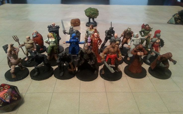 THE FREE LIBRARY OF 3D PRINTABLE DUNGEONS & DRAGONS MINIATURES IS NOW COMPLETE! All of the NPCs from the Monster Manual Appendix B.