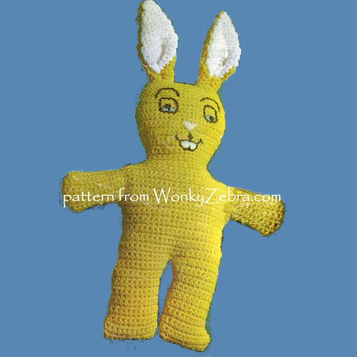 WZ344- bunny for Easter; or mid century madness style in a toy! pattern pdf from WonkyZebra