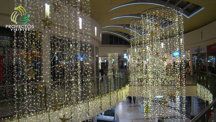 Iluminación de vacíos, iluminación navideña con luces led