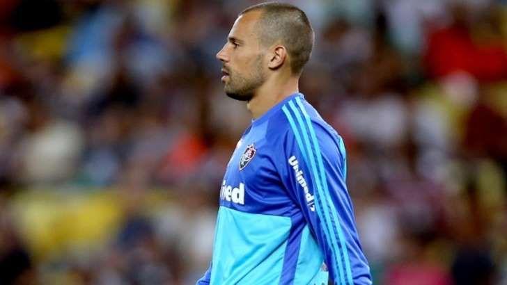 Diego Cavalieri: pouco trabalho no empate do Fluminense com o Atlético-MG
