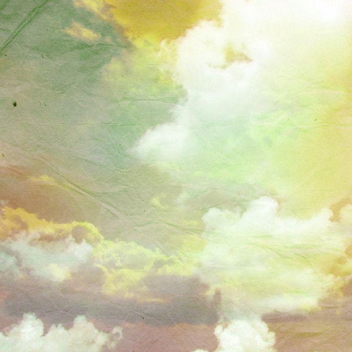 Yellow, Blue, Sky, Cloud, Green, Design