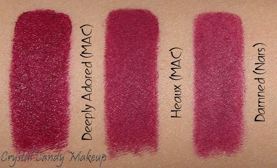 MAC Heaux Lipstick Swatch similar to Deeply Adored by MAC & Nars Damned