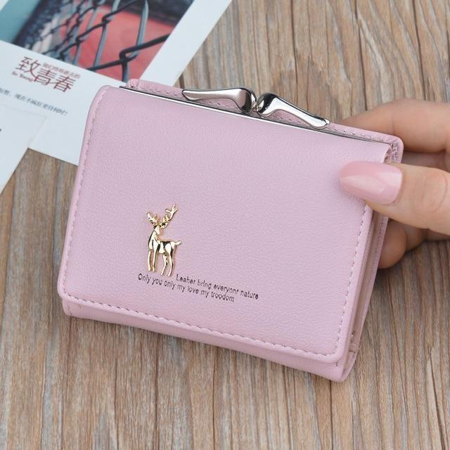 Fashion Women Leather Wallet Short Cartoon Clutch Purse Card Holder Coin Handbag