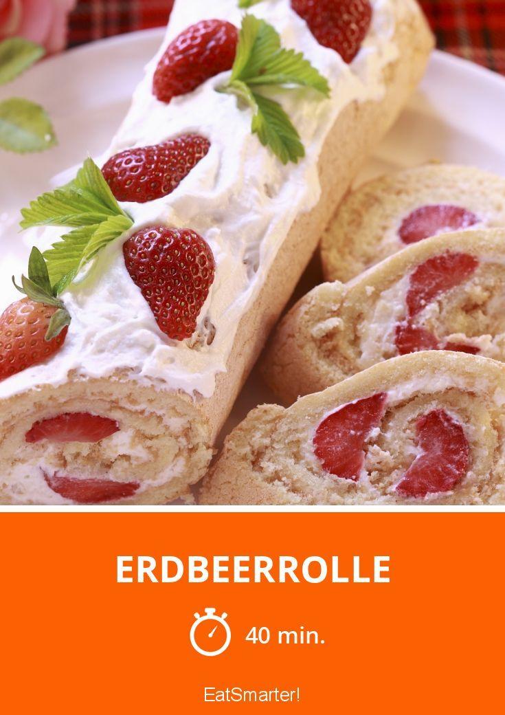Erdbeerrolle - smarter - Zeit: 40 Min. | eatsmarter.de