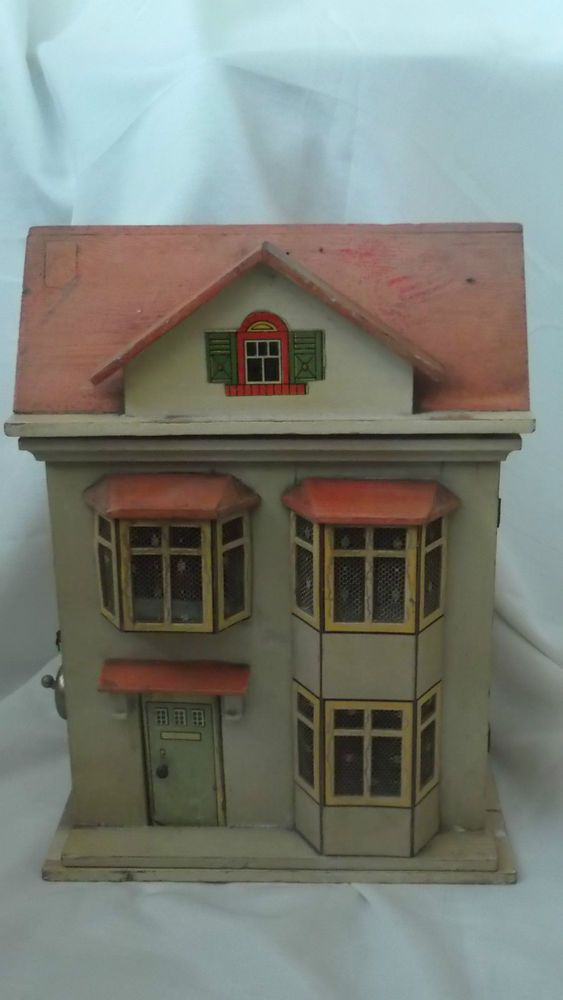 Antique Small Dolls House Lithograph Print Paper