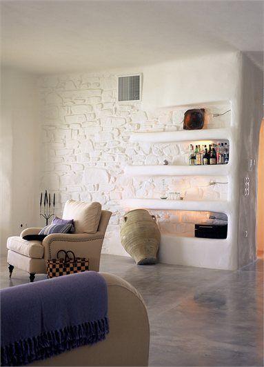 design by Paros House overlooking the Aegean - Design – supervision : Alexandros Logodotis .............. Associates : Vathrakokoilis Dimitris, Architect - Πάρος, Greece - 2003 - alexandros logodotis #livingarea #architecture #interiors