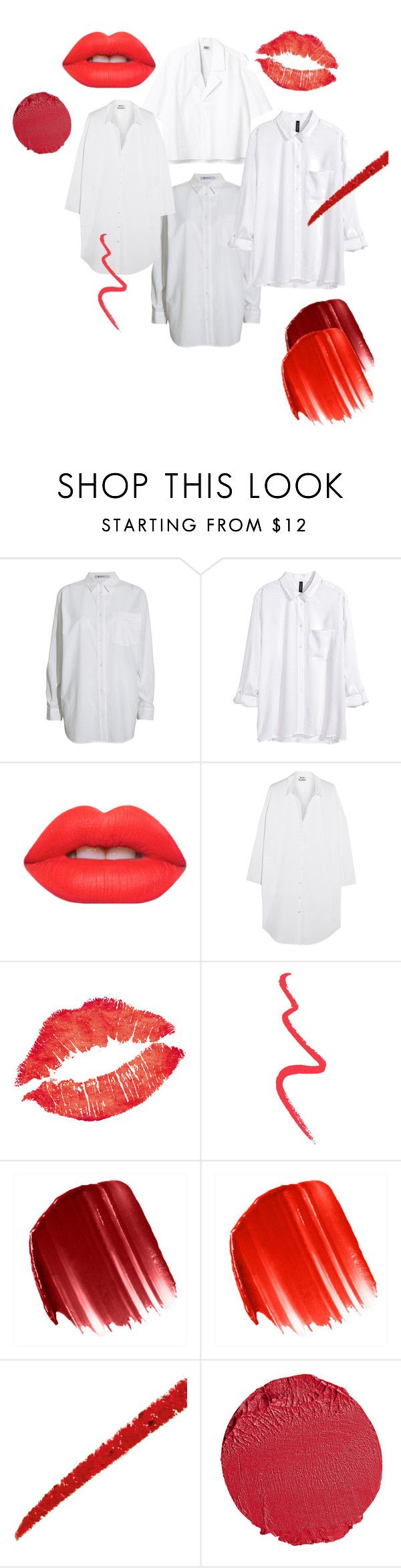 """hvit skjorte røde lepper"" by linnettebar ❤ liked on Polyvore featuring T By Alexander Wang, H&M, Lime Crime, Acne Studios, Topshop, Urban Decay, Gucci, Bobbi Brown Cosmetics, women's clothing and women's fashion"
