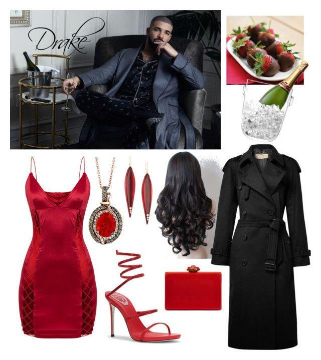 Seduction by jessann-harrold on Polyvore featuring polyvore fashion style Burberry Oscar de la Renta LE VIAN Mark Davis LSA International clothing
