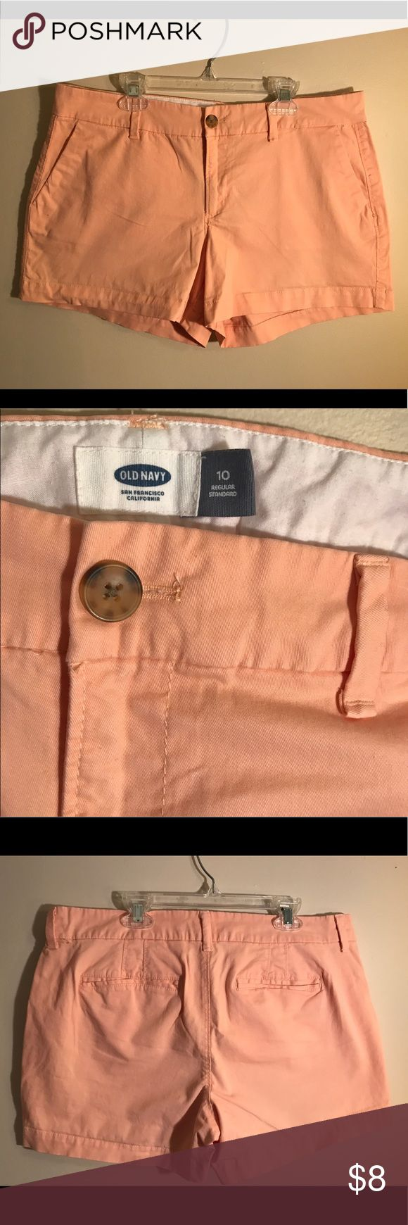 Old Navy peach shorts Patch colored Old Navy shorts with pockets, size 10 Old Navy Shorts