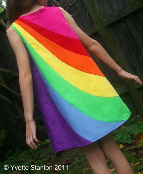 super cute girls rainbow dress