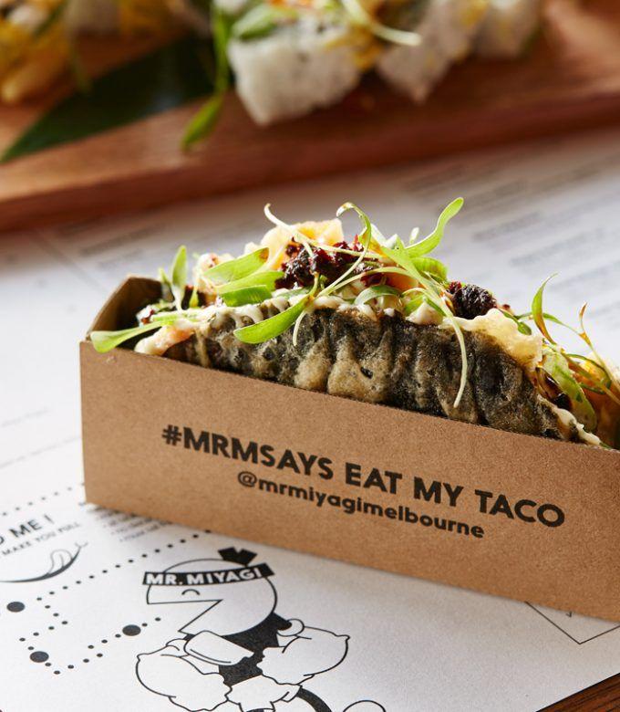 Mr Miyagi's Nori Salmon Taco | Flavours of Urban Melbourne