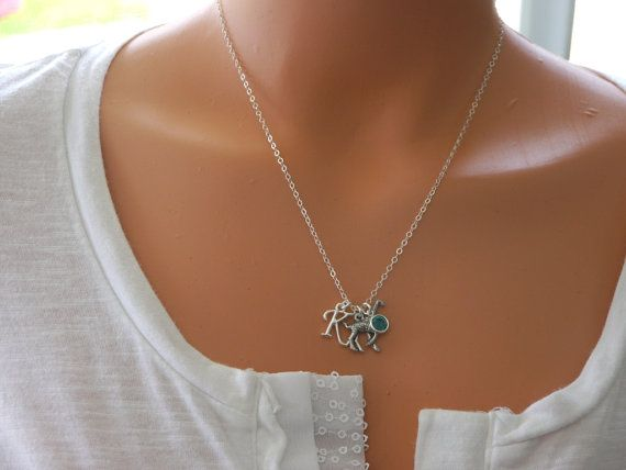 Giraffe Necklace Giraffe Charm Necklace Silver by MadiesCharms