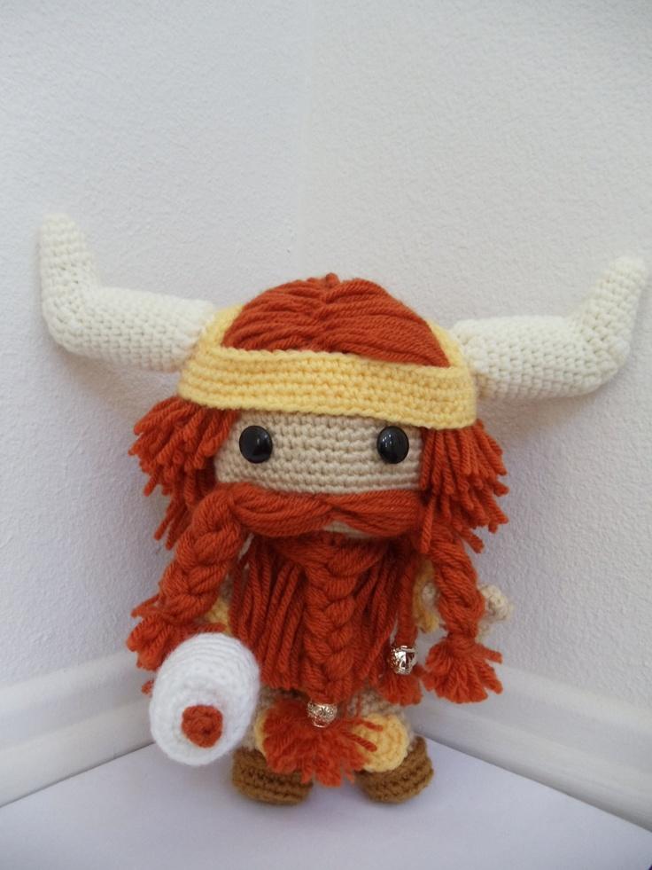 Amigurumi Viking Pattern : Norse/ Viking Sackboy Amigurumi (crocheted stuffed doll ...
