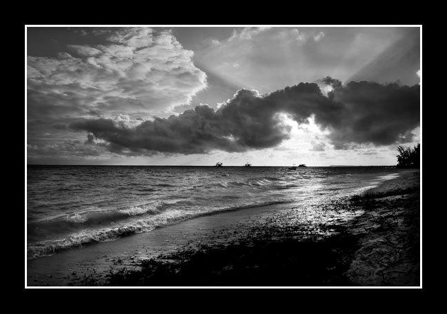 Dominican Sunset (B&W)