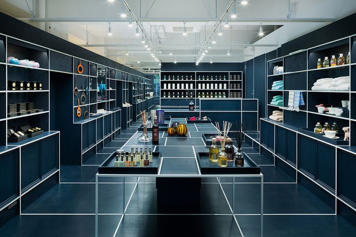 JP architects delineates le mistral gift shop with geometric detailing