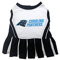 Pets First Carolina Panthers NFL Cheerleader Outfit
