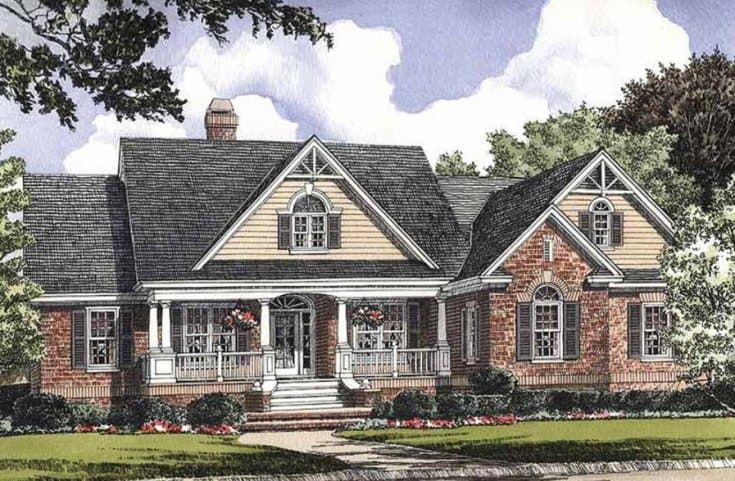 Classic Brick Ranch House Ranch House Plans Country Style House Plans Victorian House Plans
