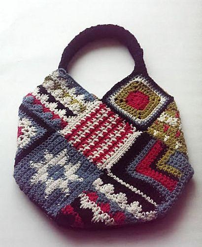 Nordic Inspired Bag -free crochet pattern-