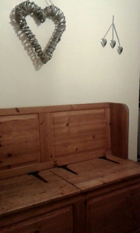 Bench with storage made from old wardrobe doors & homemade kichen doors