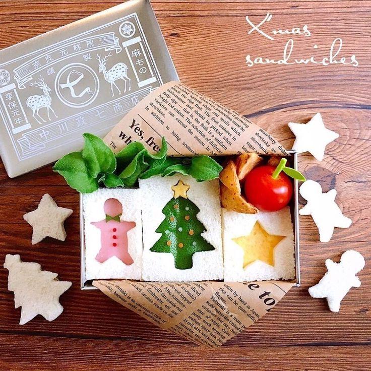 725_kwhrさんのお料理クリスマスサンドイッチBOX #snapdish #foodstagram #instafood #homemade #cooking #foodphotography #instayummy #料理 #おうちごはん #テーブルコーディネート #器 #暮らし #お弁当 #おひるごはん #lunch #オベンタグラム #オベンター #obento#Xmas #Christmas #クリスマス料理 #クリスマス#中川政七商店 https://snapdish.co/d/5r94Da