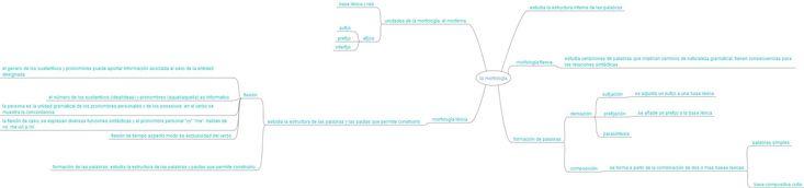 Morfología: es la rama de la lingüística que estudia la estructura interna de las palabras para, definir y clasificar sus unidades, las clases de palabras a las que da lugar (morfología flexiva) y la formación de nuevas palabras (morfología léxica)