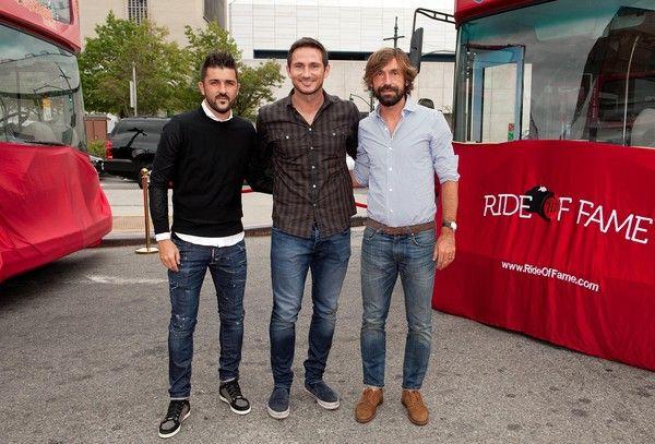 David Villa, Frank Lampard, Andrea Pirlo NYCFC Ride of Fame Induction Ceremony