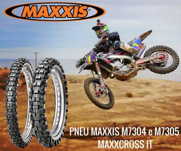 PNEUS MAXXCROSS IT | Máxima estabilidade e aderência em terrenos médios/duros. O composto de borracha da Maxxcross IT aumenta a estabilidade e aumenta a aderência na variedade de condições de solo encontrada em qualquer trilho de motocross. O pneu dianteiro M7304 combina com o pneu traseiro M7305 Maxxcross IT para proporcionar um melhor desempenho global. #lusomotos #maxxis #MaxxcrossIT #Maxxcross #M7304 #M7305 #estilodevida #borracha #pneus #pneu #andardemoto #motocross #offroad