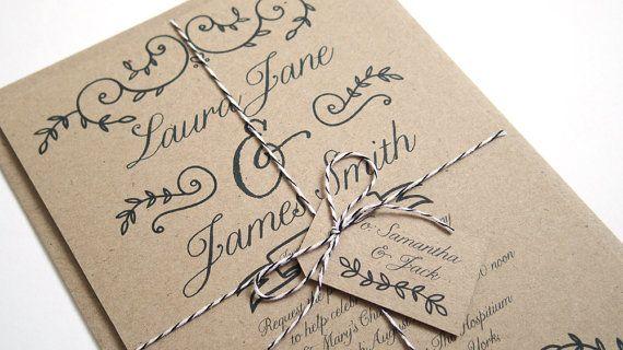 Eco Romance Wedding Invitation