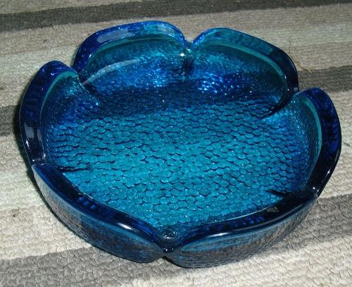 Vintage Sapphire Blue Anchor Hocking Retro Blue Glass