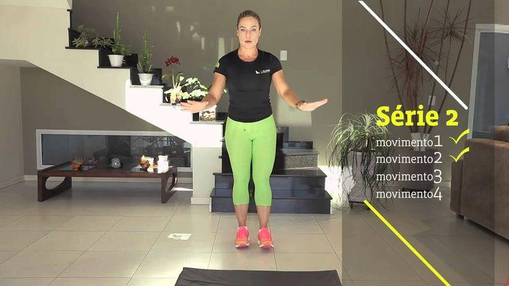 Ginástica em casa com Lu Oliveira - Exercício Combinado