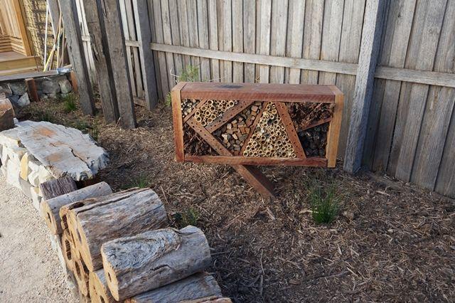 www.gardenconsultants.com.au  Native Australian Garden. Garden Sculpture. Native planting. Insect Hotel