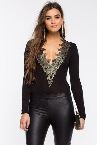 Metallic Crochet Bodysuit, $22.90 | 25 Insanely Gorgeous Bodysuits That Cost Less Than $25
