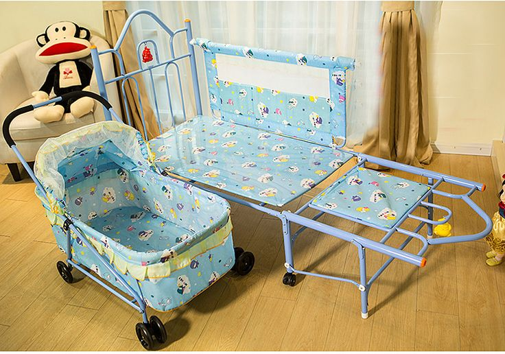 >> Click to Buy << European Baby Cribs Newborn Children's Feet Iron Bb Bed Multifunctional Trolley Sleeping Basket With Roller Baby Cradle Bed #Affiliate