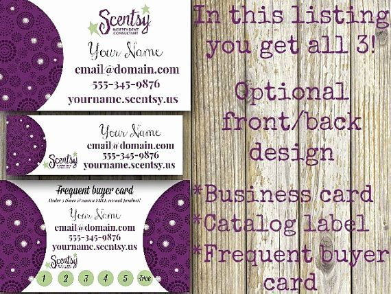 Scentsy Loyalty Cards Elegant Scentsy Frequent Customer Card The Slur Create Business Cards Loyalty Card Customer Card