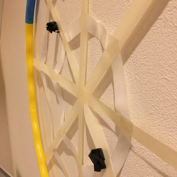簡単ハロウィンゲームアイデア 蜘蛛の巣のハロウィンダーツで