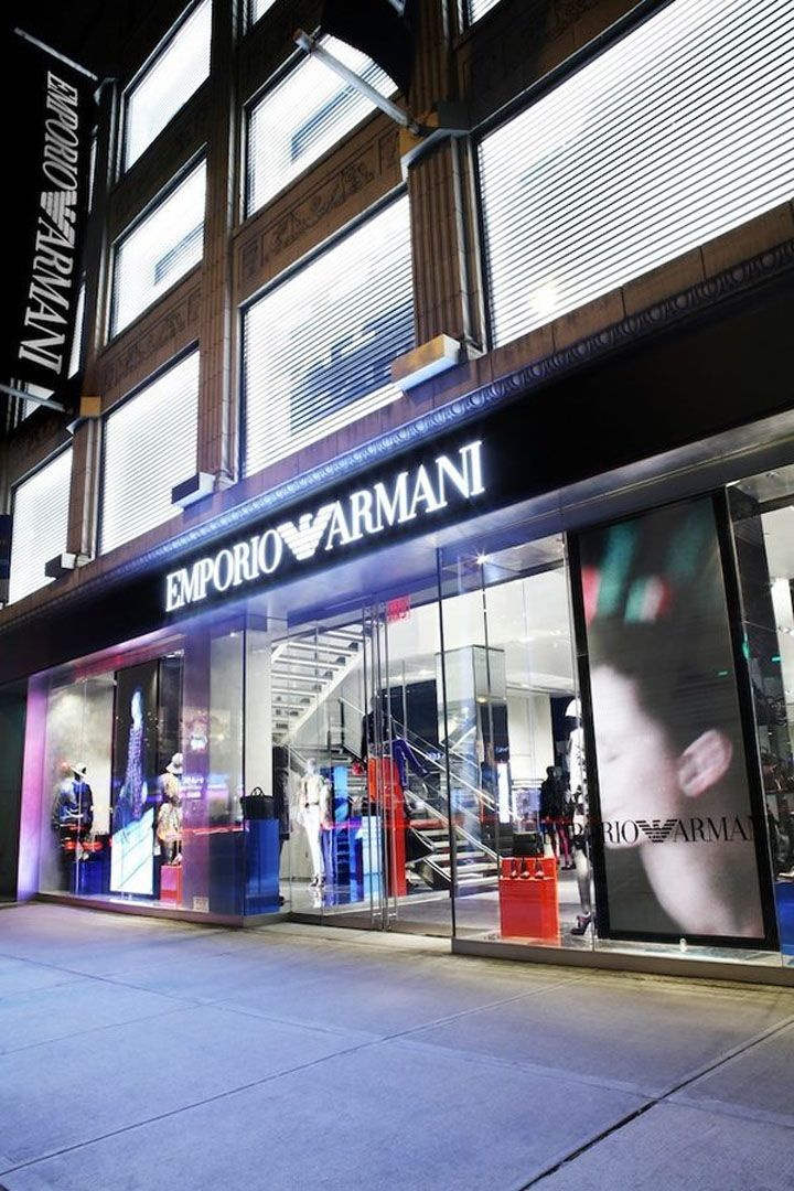 110 best images about retailing store design on for Armani new york