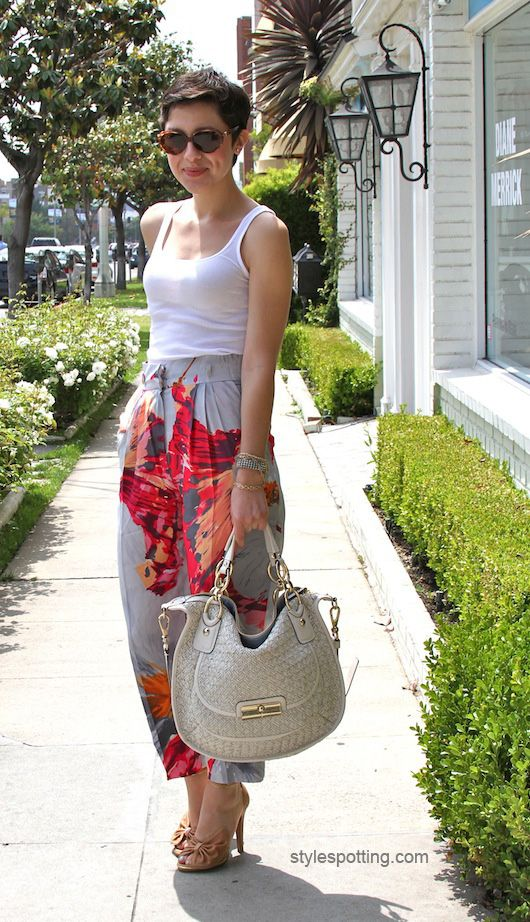 with a simple tank...karla_deras_stylespotting.com  love her. thanks for pinning this. ~ jerri