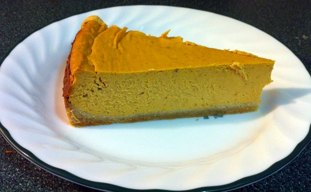 "Paleo Pumpkin Cheesecake . . . Made this 10/21/13. Excellent cheesecake.I added a bit more pumpkin spice than the recipe called for, I used a 9"" springform pan and I baked it for 45 minutes, turned the oven off and propped the door open and let it sit in the oven for another 45 minutes. Worked PERFECTLY! . . Update 10/10/14 - I've made this multiple times and it's defiinitely a Fall Favorite! ~ Becky"