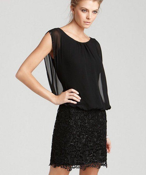Blouson dress black