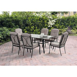 Mainstays Sonoma Patio Dining Set, Seats 6 With Tile Top